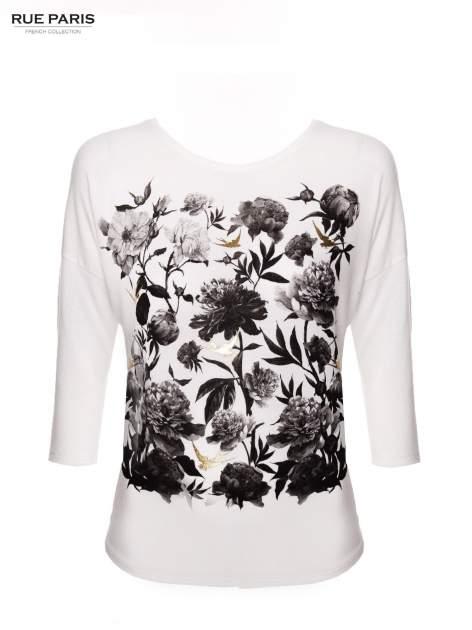 Bluzka w kwiatowy wzór ze złotym printem