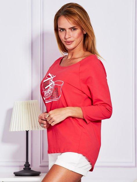 Bluzka z trampkami jasnoczerwona                                  zdj.                                  5