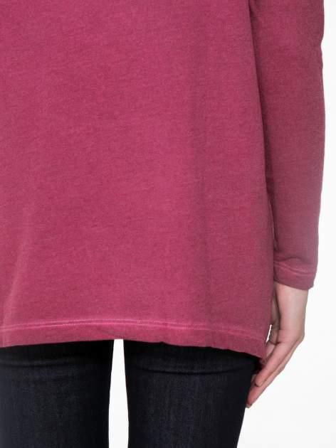 Bordowa bluza z koronkową wstawką na plecach                                  zdj.                                  9