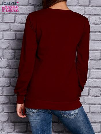 Bordowa bluza z napisem BULLS                                  zdj.                                  2
