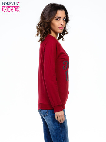 Bordowa bluza z napisem I AM FREAKING COLD                                  zdj.                                  3
