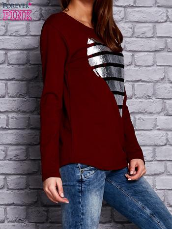 Bordowa bluza z sercem                                  zdj.                                  3