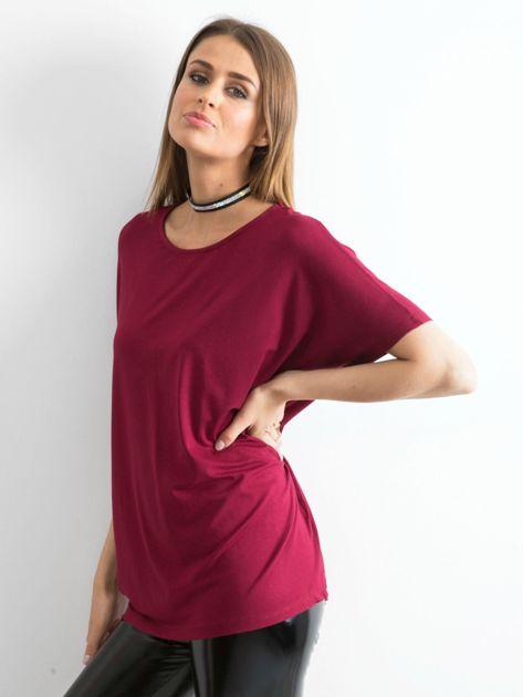 Bordowa bluzka Oversize                              zdj.                              3