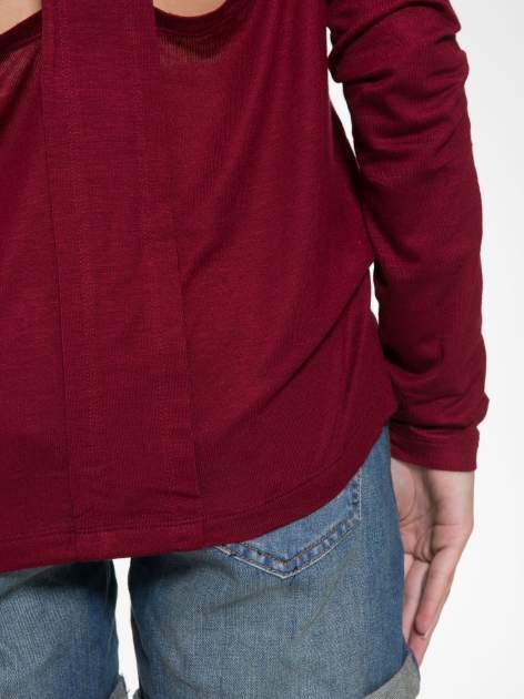 Bordowa bluzka z wycięciami na plecach                                  zdj.                                  11