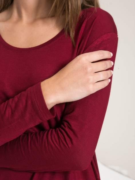 Bordowa bluzka z wycięciami na plecach                                  zdj.                                  9