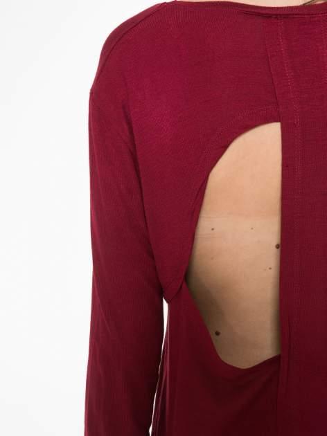 Bordowa bluzka z wycięciami na plecach                                  zdj.                                  10