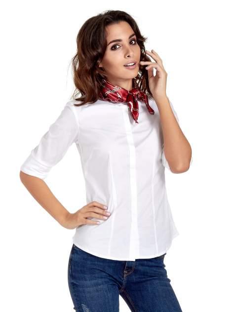 Bordowa chusta apaszka z motywem łańcuszka                                  zdj.                                  2