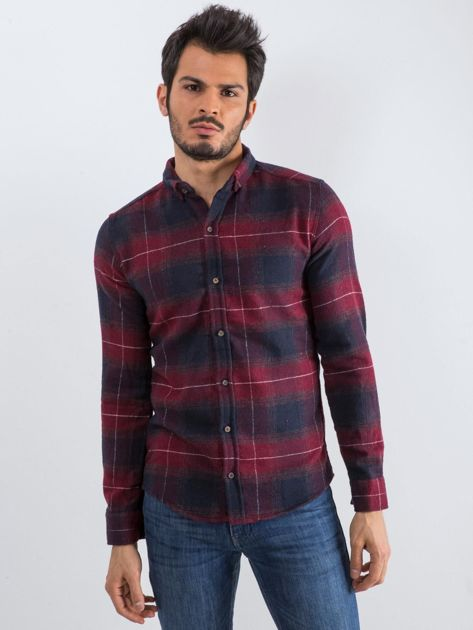Bordowa koszula męska Esquire                              zdj.                              3