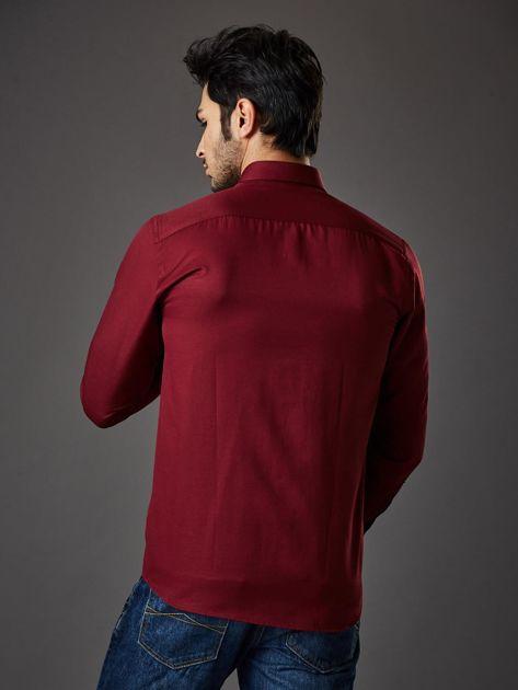Bordowa koszula męska regular fit                              zdj.                              2