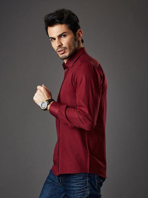 Bordowa koszula męska regular fit                              zdj.                              3