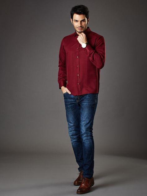 Bordowa koszula męska regular fit                              zdj.                              4