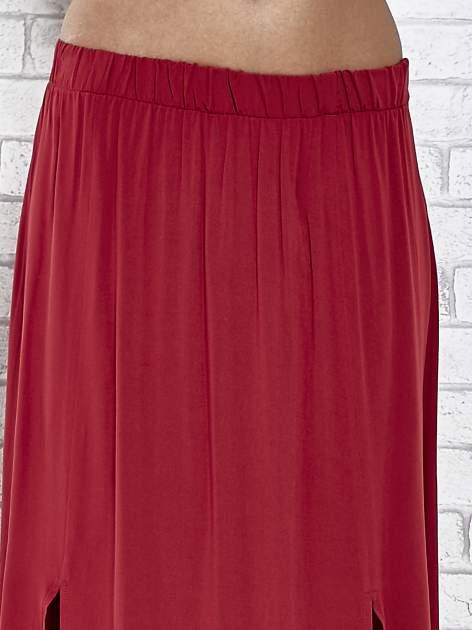 Bordowa spódnica maxi z rozporkami z przodu                                  zdj.                                  5