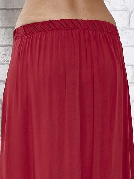 Bordowa spódnica maxi z rozporkami z przodu                                  zdj.                                  7