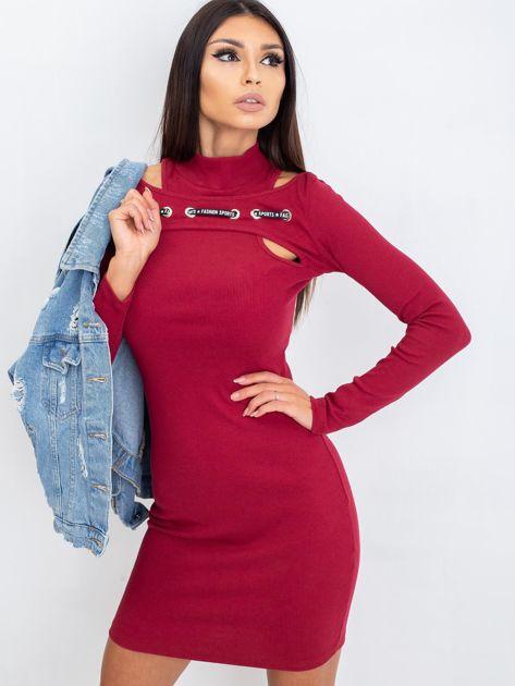 Bordowa sukienka Diaz                              zdj.                              5