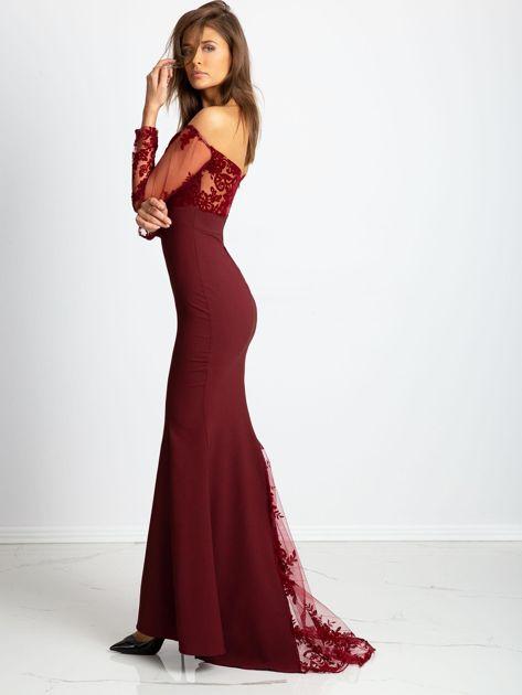Bordowa sukienka Majesty                              zdj.                              4