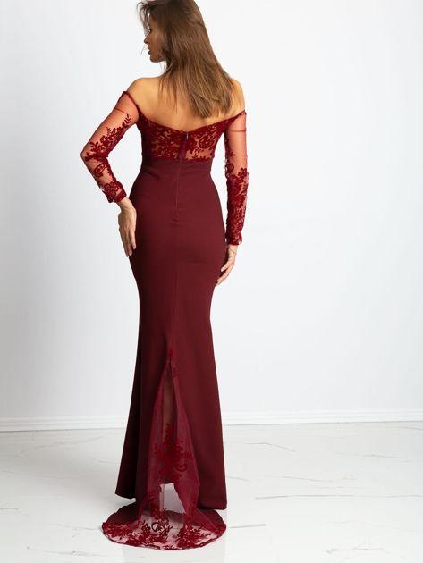 Bordowa sukienka Majesty                              zdj.                              2