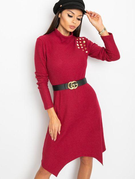 Bordowa sukienka Una                              zdj.                              1