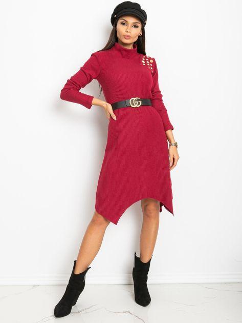 Bordowa sukienka Una                              zdj.                              4