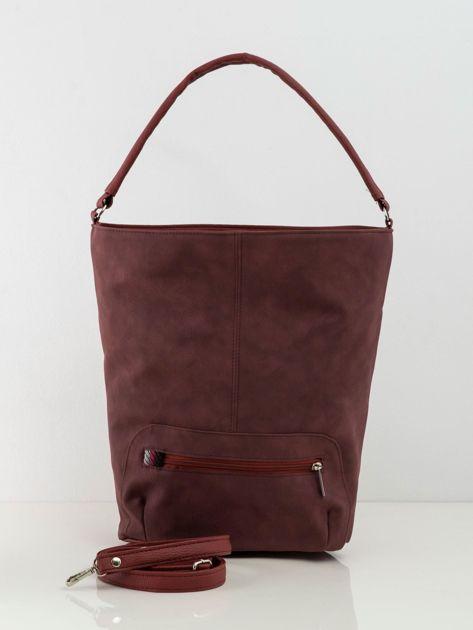 Bordowa torba city bag z kieszenią