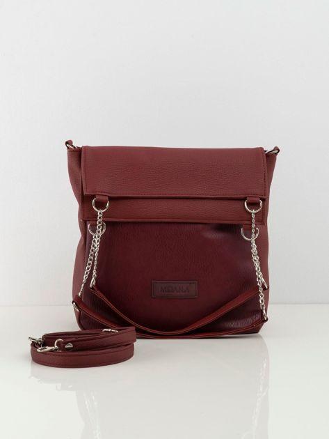 Bordowa torba damska z ekologicznej skóry