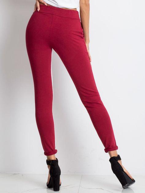 Bordowe spodnie dresowe Defined                              zdj.                              2