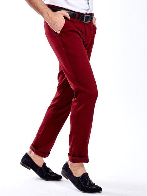 Bordowe spodnie męskie chinos                              zdj.                              3