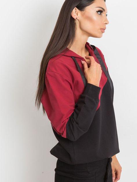 Bordowo-czarna bluza Havana                              zdj.                              3