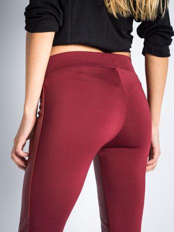 Borodowe dwustronne legginsy skórzane                                  zdj.                                  4