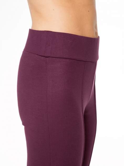 Borodowe modelujące legginsy z wysokim stanem i szwem wzdłuż nogawki                                  zdj.                                  8