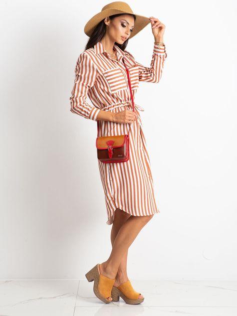 Brązowa damska torebka ze skóry                              zdj.                              5