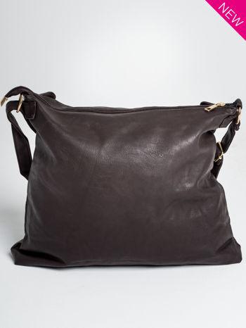 Brązowa pikowana torebka na ramię                                  zdj.                                  5
