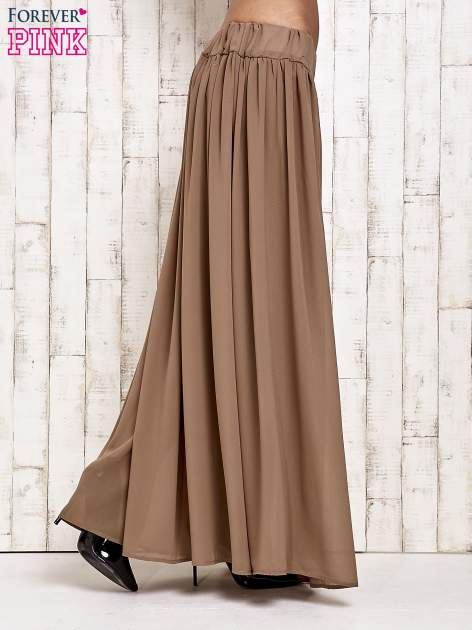 Brązowa spódnica maxi na gumkę w pasie                                  zdj.                                  2