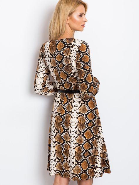 Brązowa sukienka Bossing                              zdj.                              2