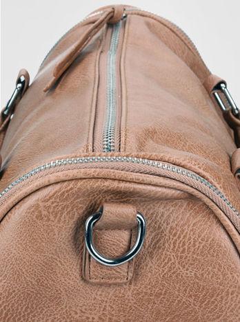 Brązowa torba bowling z suwakami                                  zdj.                                  8