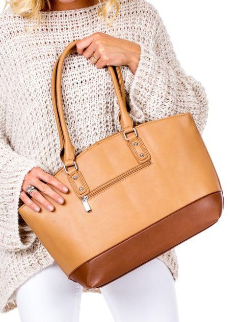 Brązowa torba damska two tone                              zdj.                              3