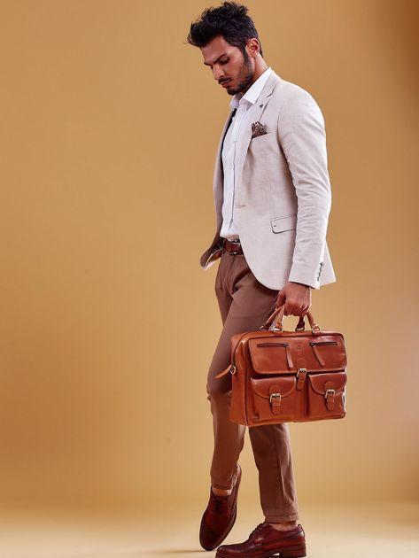 Brązowa torba męska z odpinanym paskiem                              zdj.                              12