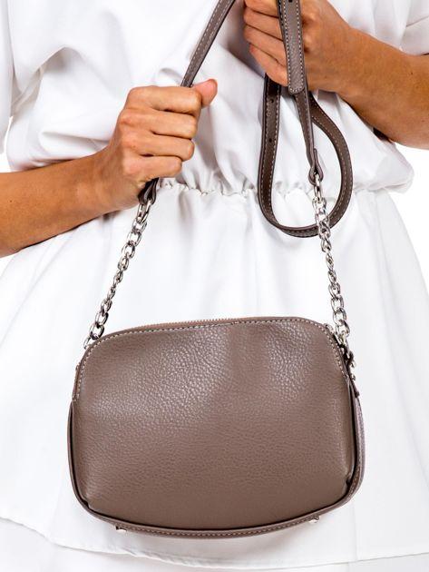 Brązowa torba z dzielonymi komorami                              zdj.                              3