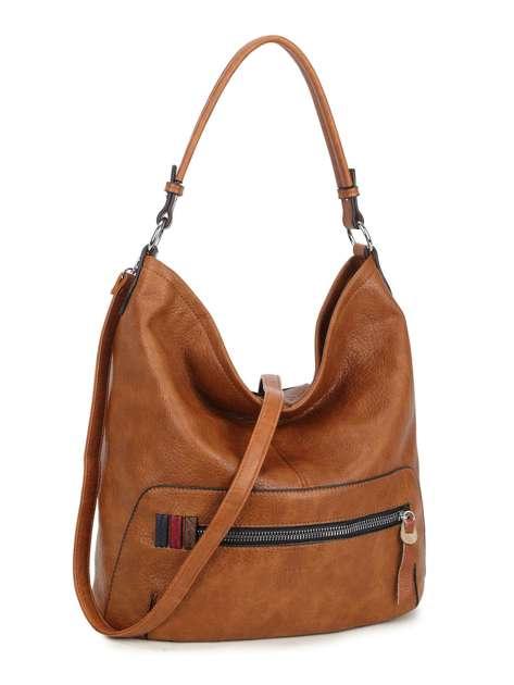 Brązowa torba z kieszenią na suwak LUIGISANTO