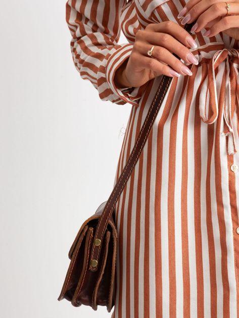 Brązowa torebka damska ze skóry                              zdj.                              3