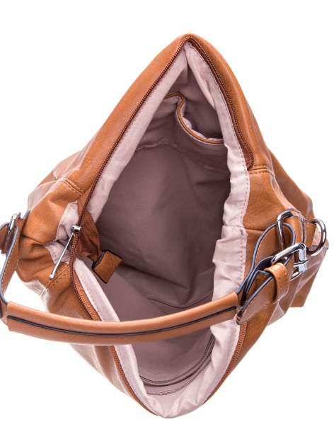 Brązowa torebka hobo na ramię                                  zdj.                                  4
