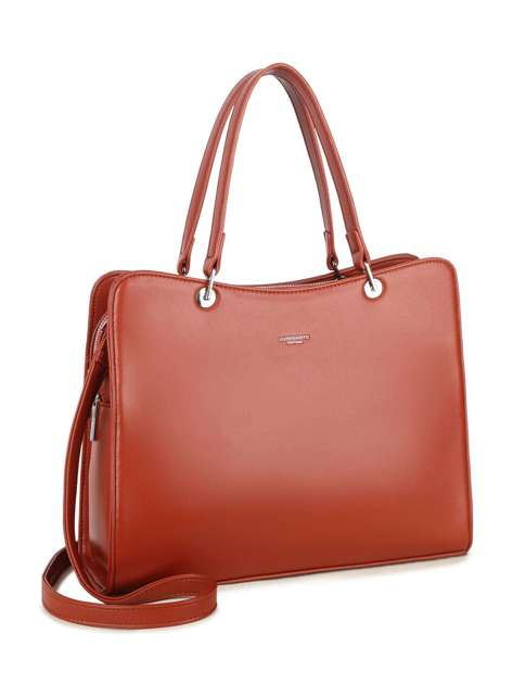 Brązowa torebka z ekologicznej skóry LUIGISANTO