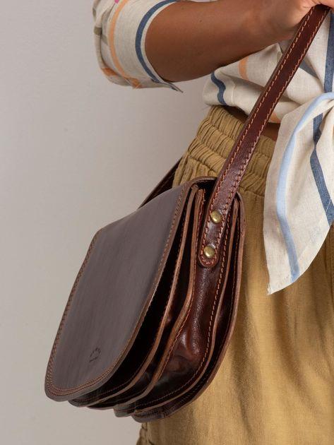 Brązowa torebka ze skóry naturalnej                              zdj.                              2