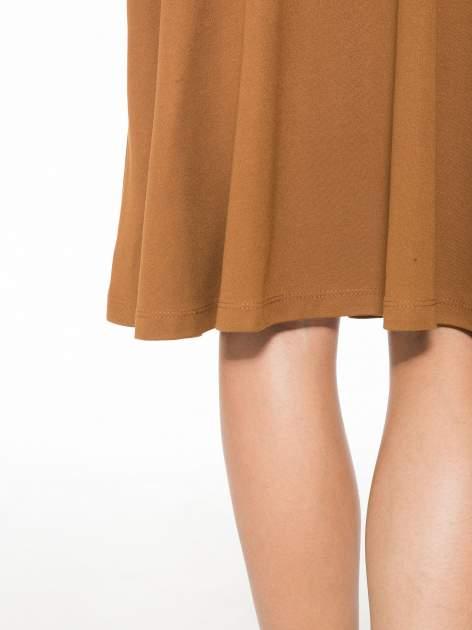 Brązowa zwiewna spódnica midi                                  zdj.                                  6