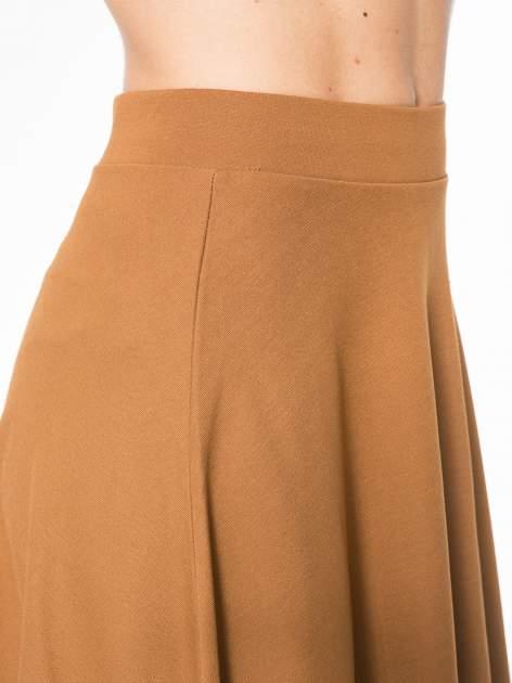 Brązowa zwiewna spódnica midi                                  zdj.                                  8