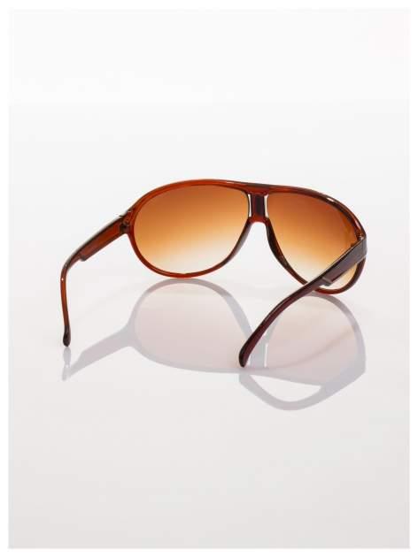 Brązowe modne sportowe okulary Beckhamki                                  zdj.                                  2