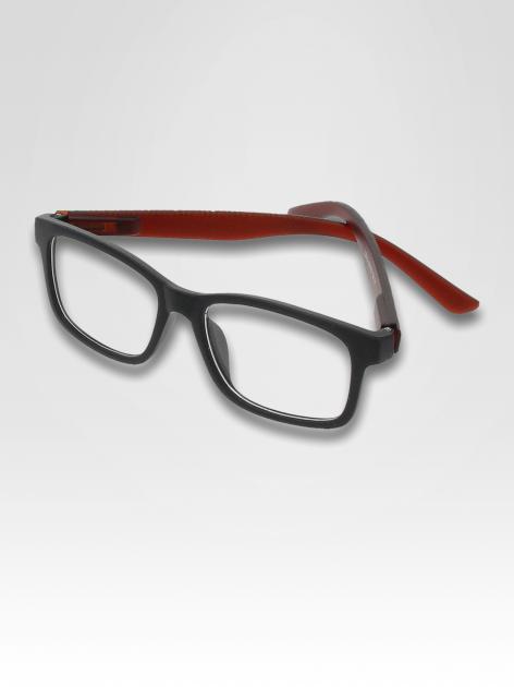 Brązowo-czarne okulary zerówki kujonki typu WAYFARER NERDY matowe                                  zdj.                                  3