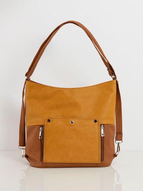 Brązowo-musztardowa torba