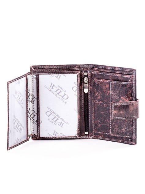Brązowy cieniowany portfel męski ze skóry naturalnej                              zdj.                              5