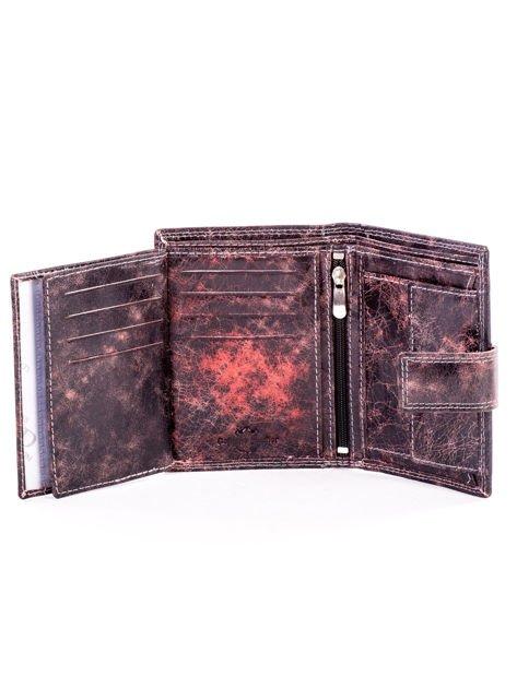 Brązowy cieniowany portfel męski ze skóry naturalnej                              zdj.                              6