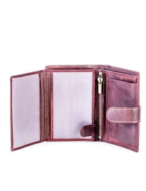 Brązowy elegancki portfel dla mężczyzny                              zdj.                              3
